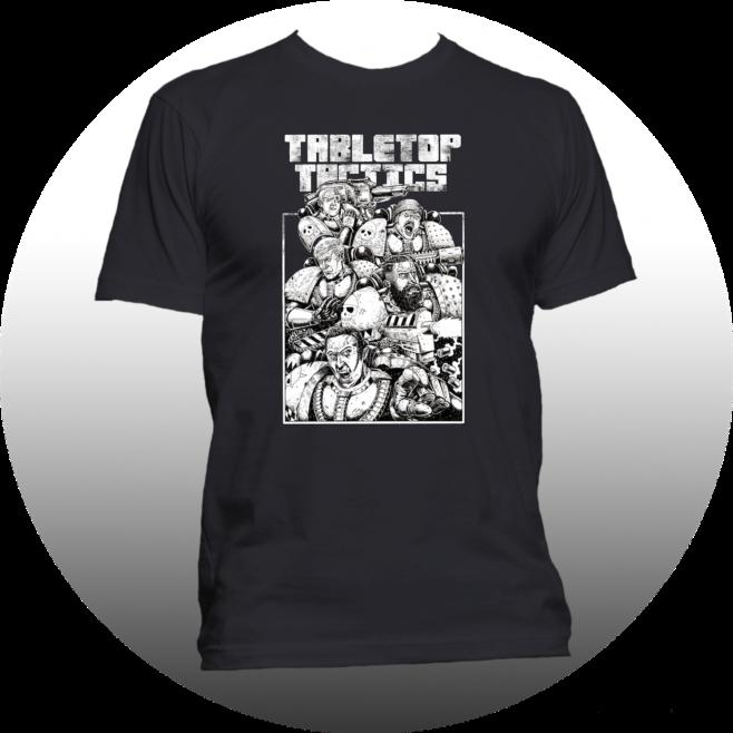 Tabletop Tactics Space Marine Squad T-Shirt