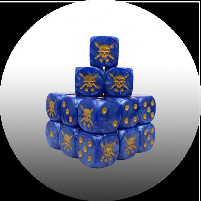 TABLETOP TACTICS BLUE PEARL DICE