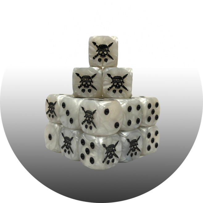TABLETOP TACTICS WHITE PEARL DICE