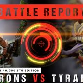 Warhammer 40,000 Battle Report: Necrons vs Tyranids 1750pts