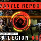 Warhammer 40,000 Battle Report: Black Legion vs T'au 2000pts